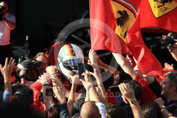 World © Octane Photographic Ltd. Formula 1 – Australian GP - Parc Ferme. Scuderia Ferrari SF71-H – Sebastian Vettel. Albert Park, Melbourne, Australia. Sunday 25th March 2018.