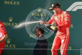 World © Octane Photographic Ltd. Formula 1 – Australian GP - Podium. Scuderia Ferrari SF71-H – Sebastian Vettel. Albert Park, Melbourne, Australia. Sunday 25th March 2018.