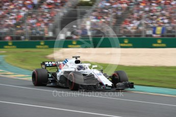 World © Octane Photographic Ltd. Formula 1 – Australian GP - Race. Williams Martini Racing FW41 – Lance Stroll. Albert Park, Melbourne, Australia. Sunday 25th March 2018.