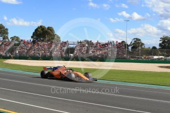 World © Octane Photographic Ltd. Formula 1 – Australian GP - Race. McLaren MCL33 – Stoffel Vandoorne. Albert Park, Melbourne, Australia. Sunday 25th March 2018.
