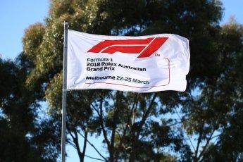 World © Octane Photographic Ltd. Formula 1 – Australian GP - Friday Melbourne Walk. F1 flag. Albert Park, Melbourne, Australia. Friday 23rd March 2018.
