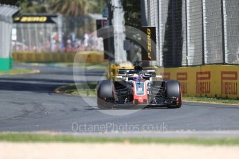World © Octane Photographic Ltd. Formula 1 – Australian GP - Friday Practice 1. Haas F1 Team VF-18 – Romain Grosjean. Albert Park, Melbourne, Australia. Friday 23rd March 2018.