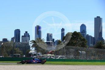 World © Octane Photographic Ltd. Formula 1 – Australian GP - Friday Practice 1. Scuderia Toro Rosso STR13 – Pierre Gasly. Albert Park, Melbourne, Australia. Friday 23rd March 2018.