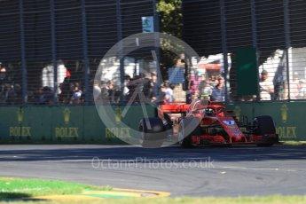 World © Octane Photographic Ltd. Formula 1 – Australian GP - Friday Practice 2. Scuderia Ferrari SF71-H – Kimi Raikkonen. Albert Park, Melbourne, Australia. Friday 23rd March 2018.