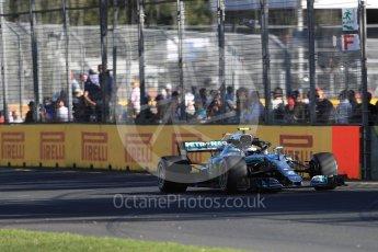 World © Octane Photographic Ltd. Formula 1 – Australian GP - Friday Practice 2. Mercedes AMG Petronas Motorsport AMG F1 W09 EQ Power+ - Valtteri Bottas. Albert Park, Melbourne, Australia. Friday 23rd March 2018.