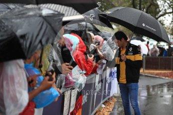 World © Octane Photographic Ltd. Formula 1 – Australian GP - Saturday Melbourne Walk. Renault Sport F1 Team RS18 – Carlos Sainz. Albert Park, Melbourne, Australia. Saturday 24th March 2018.
