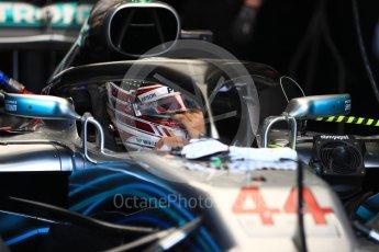 World © Octane Photographic Ltd. Formula 1 – Australian GP - Practice 3. Mercedes AMG Petronas Motorsport AMG F1 W09 EQ Power+ - Lewis Hamilton. Albert Park, Melbourne, Australia. Saturday 24th March 2018.