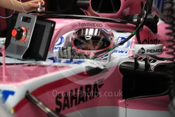 World © Octane Photographic Ltd. Formula 1 – Australian GP - Practice 3. Sahara Force India VJM11 - Sergio Perez. Albert Park, Melbourne, Australia. Saturday 24th March 2018.