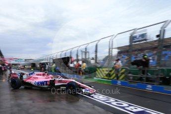 World © Octane Photographic Ltd. Formula 1 – Australian GP - Practice 3. Sahara Force India VJM11 - Esteban Ocon. Albert Park, Melbourne, Australia. Saturday 24th March 2018.