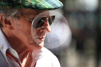 World © Octane Photographic Ltd. Formula 1 - Australian GP - Melbourne Walk 3. Sir Jackie Stewart. Albert Park, Melbourne, Australia. Sunday 25th March 2018.