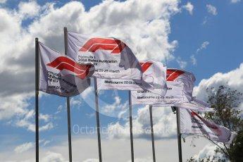 World © Octane Photographic Ltd. Formula 1 - Australian GP - Melbourne Walk 3. F1 Flag. Albert Park, Melbourne, Australia. Sunday 25th March 2018.