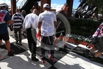 World © Octane Photographic Ltd. Formula 1 – Australian GP - Melbourne Walk. Mercedes AMG Petronas Motorsport AMG F1 W09 EQ Power+ - Lewis Hamilton. Albert Park, Melbourne, Australia. Sunday 25th March 2018.