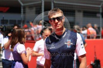 World © Octane Photographic Ltd. Formula 1 – Austrian GP - Drivers Parade. Williams Martini Racing FW41 – Sergey Sirotkin. Red Bull Ring, Spielberg, Austria. Sunday 1st July 2018.