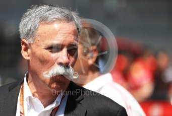 World © Octane Photographic Ltd. Formula 1 - Austrian GP - Grid. Chase Carey - Chief Executive Officer of the Formula One Group and Sean Bratches. Red Bull Ring, Spielberg, Austria. Sunday 1st July 2018.