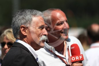 World © Octane Photographic Ltd. Formula 1 - Austrian GP - Grid. Chase Carey - Chief Executive Officer of the Formula One Group. Red Bull Ring, Spielberg, Austria. Sunday 1st July 2018.