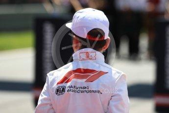 World © Octane Photographic Ltd. Formula 1 – Austrian GP - Grid. Grid kids. Red Bull Ring, Spielberg, Austria. Sunday 1st July 2018.
