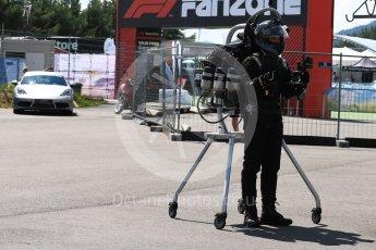 World © Octane Photographic Ltd. Formula 1 – Austrian GP - Grid. Jet Powered body suit. Red Bull Ring, Spielberg, Austria. Sunday 1st July 2018.