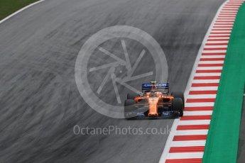 World © Octane Photographic Ltd. Formula 1 – Austrian GP - Practice 2. McLaren MCL33 – Stoffel Vandoorne. Red Bull Ring, Spielberg, Austria. Friday 29th June 2018.