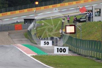World © Octane Photographic Ltd. Formula 1 – Austrian GP - Practice 2. Red Flag. Red Bull Ring, Spielberg, Austria. Friday 29th June 2018.