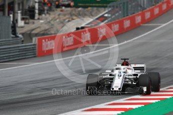World © Octane Photographic Ltd. Formula 1 – Austrian GP - Qualifying. Alfa Romeo Sauber F1 Team C37 – Marcus Ericsson. Red Bull Ring, Spielberg, Austria. Saturday 30th June 2018.