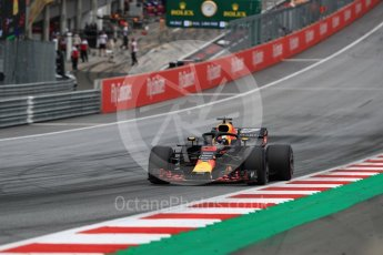 World © Octane Photographic Ltd. Formula 1 – Austrian GP - Qualifying. Aston Martin Red Bull Racing TAG Heuer RB14 – Daniel Ricciardo. Red Bull Ring, Spielberg, Austria. Saturday 30th June 2018.