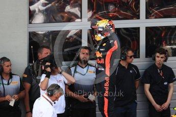 World © Octane Photographic Ltd. Formula 1 – Austrian GP - Race Podium. Aston Martin Red Bull Racing TAG Heuer RB14 – Max Verstappen. Red Bull Ring, Spielberg, Austria. Sunday 1st July 2018.