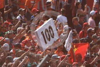 World © Octane Photographic Ltd. Formula 1 – Austrian GP - Race Podium. Max Verstappen fans. Red Bull Ring, Spielberg, Austria. Sunday 1st July 2018.
