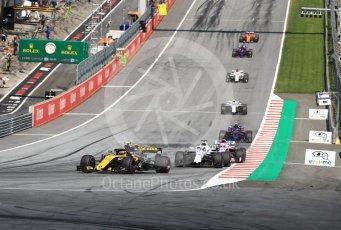 World © Octane Photographic Ltd. Formula 1 – Austrian GP - Race. Haas F1 Team VF-18 – Romain Grosjean. Red Bull Ring, Spielberg, Austria. Sunday 1st July 2018.