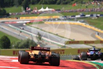 World © Octane Photographic Ltd. Formula 1 – Austrian GP - Race. McLaren MCL33 – Fernando Alonso. Red Bull Ring, Spielberg, Austria. Sunday 1st July 2018.