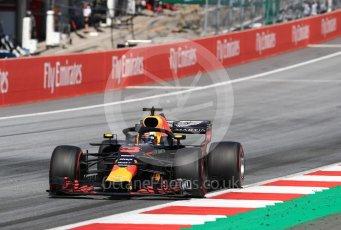 World © Octane Photographic Ltd. Formula 1 – Austrian GP - Race. Aston Martin Red Bull Racing TAG Heuer RB14 – Daniel Ricciardo. Red Bull Ring, Spielberg, Austria. Sunday 1st July 2018.