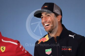 World © Octane Photographic Ltd. Formula 1 – French GP - Thursday Driver Press Conference. Aston Martin Red Bull Racing TAG Heuer  – Daniel Ricciardo. Red Bull Ring, Spielberg, Austria. Thursday 28th June 2018.