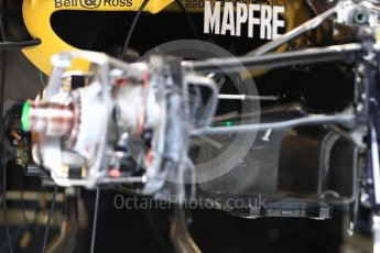 World © Octane Photographic Ltd. Formula 1 – Austrian GP - Pit Lane. Renault Sport F1 Team RS18. Red Bull Ring, Spielberg, Austria. Thursday 28th June 2018.