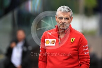 World © Octane Photographic Ltd. Formula 1 - Austrian GP - Paddock. Maurizio Arrivabene – Managing Director and Team Principal of Scuderia Ferrari. Red Bull Ring, Spielberg, Austria. Thursday 28th June 2018.