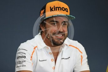 World © Octane Photographic Ltd. Formula 1 – Belgian GP - FIA Drivers' Press Conference. McLaren – Fernando Alonso. Spa-Francorchamps, Belgium. Thursday 23rd August 2018.