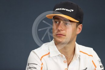 World © Octane Photographic Ltd. Formula 1 – Belgian GP - FIA Drivers' Press Conference. McLaren – Stoffel Vandoorne. Spa-Francorchamps, Belgium. Thursday 23rd August 2018.