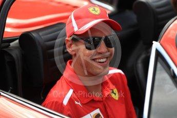 World © Octane Photographic Ltd. Formula 1 – Belgian GP - Drivers Parade. Scuderia Ferrari SF71-H – Sebastian Vettel. Spa-Francorchamps, Belgium. Sunday 26th August 2018.