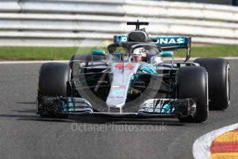World © Octane Photographic Ltd. Formula 1 – Belgian GP - Practice 1. Mercedes AMG Petronas Motorsport AMG F1 W09 EQ Power+ - Lewis Hamilton. Spa-Francorchamps, Belgium. Friday 24th August 2018.