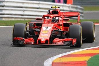 World © Octane Photographic Ltd. Formula 1 – Belgian GP - Practice 1. Scuderia Ferrari SF71-H – Kimi Raikkonen. Spa-Francorchamps, Belgium. Friday 24th August 2018.