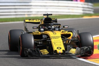 World © Octane Photographic Ltd. Formula 1 – Belgian GP - Practice 1. Renault Sport F1 Team RS18 – Nico Hulkenberg. Spa-Francorchamps, Belgium. Friday 24th August 2018.