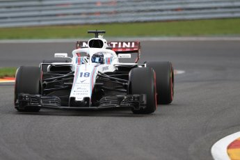 World © Octane Photographic Ltd. Formula 1 – Belgian GP - Practice 1. Williams Martini Racing FW41 – Lance Stroll. Spa-Francorchamps, Belgium. Friday 24th August 2018.