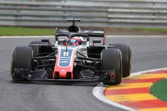 World © Octane Photographic Ltd. Formula 1 – Belgian GP - Practice 1. Haas F1 Team VF-18 – Romain Grosjean. Spa-Francorchamps, Belgium. Friday 24th August 2018.