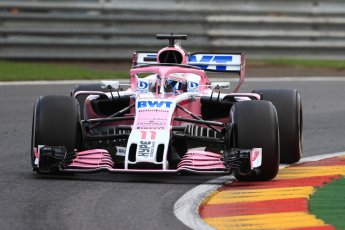 World © Octane Photographic Ltd. Formula 1 – Belgian GP - Practice 1. Racing Point Force India VJM11 - Sergio Perez. Spa-Francorchamps, Belgium. Friday 24th August 2018.