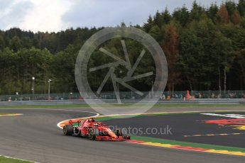 World © Octane Photographic Ltd. Formula 1 – Belgian GP - Practice 1. Scuderia Ferrari SF71-H – Sebastian Vettel. Spa-Francorchamps, Belgium. Friday 24th August 2018.