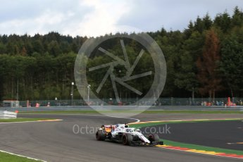 World © Octane Photographic Ltd. Formula 1 – Belgian GP - Practice 1. Williams Martini Racing FW41 – Lance Stroll. Spa-Francorchamps, Belgium. Friday 24th August 2018.
