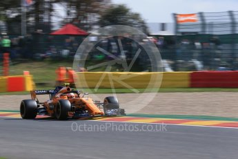 World © Octane Photographic Ltd. Formula 1 – Belgian GP - Practice 1. McLaren MCL33 – Stoffel Vandoorne. Spa-Francorchamps, Belgium. Friday 24th August 2018.