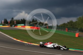 World © Octane Photographic Ltd. Formula 1 – Belgian GP - Practice 1. Alfa Romeo Sauber F1 Team C37 – Charles Leclerc. Spa-Francorchamps, Belgium. Friday 24th August 2018.
