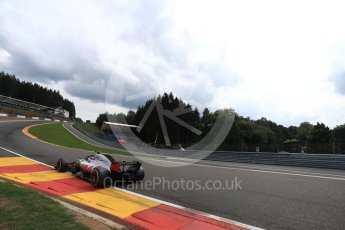 World © Octane Photographic Ltd. Formula 1 – Belgian GP - Practice 2. Haas F1 Team VF-18 – Romain Grosjean. Spa-Francorchamps, Belgium. Friday 24th August 2018.