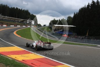 World © Octane Photographic Ltd. Formula 1 – Belgian GP - Practice 2. Alfa Romeo Sauber F1 Team C37 – Marcus Ericsson. Spa-Francorchamps, Belgium. Friday 24th August 2018.