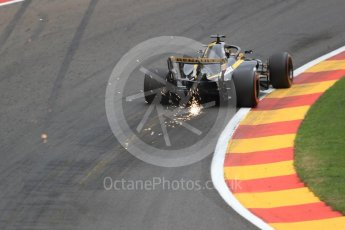 World © Octane Photographic Ltd. Formula 1 – Belgian GP - Practice 2. Renault Sport F1 Team RS18 – Nico Hulkenberg. Spa-Francorchamps, Belgium. Friday 24th August 2018.