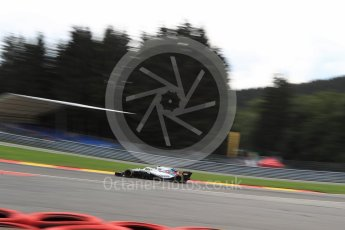 World © Octane Photographic Ltd. Formula 1 – Belgian GP - Practice 2. Williams Martini Racing FW41 – Sergey Sirotkin. Spa-Francorchamps, Belgium. Friday 24th August 2018.
